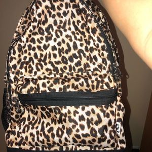 Cheetah print pink backpack